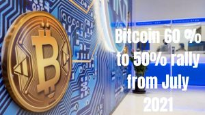 Bitcoin 60 % to 50% rally from July 2021